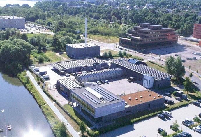 BlueKoldings kontorer og forrenseanlæg i Kolding Åpark, Kolding